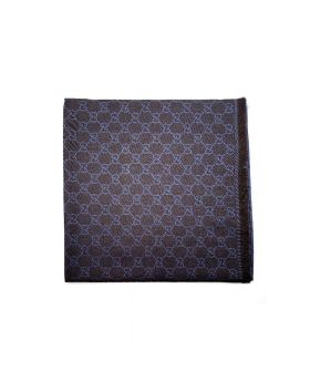 Gucci - Scarf Brown with blue prints
